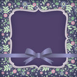 Dark flower card. Elegance vector background with plants and flowers Stock Images