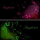 Dark flower graphics Stock Photography