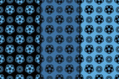 Dark flower seamless background. Blue and black ornaments Royalty Free Stock Photography