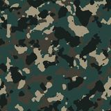 Dark forest seamless camo. Pattern Stock Photography