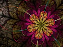 Dark fractal flower Royalty Free Stock Photo