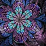 Dark fractal flower. Digital artwork for creative graphic design Stock Images