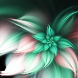 Dark fractal flower vector illustration