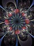 Dark fractal flower, digital artwork Royalty Free Stock Photo