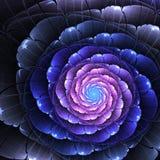 Dark fractal flower Royalty Free Stock Images