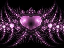 Dark fractal heart Royalty Free Stock Photo