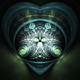 Dark fractal heart Stock Photo