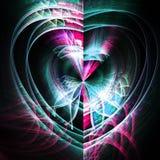 Dark fractal heart. Digital artwork for creative graphic design Royalty Free Stock Images