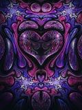 Dark fractal heart. Digital artwork for creative graphic design Royalty Free Stock Photo