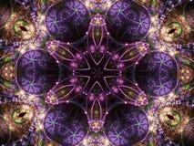 Dark fractal mandala Stock Image