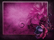 Dark frame with a vintage rose Royalty Free Stock Image