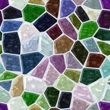 Dark full color irregular plastic stone mosaic floor seamless pattern texture background  Stock Image