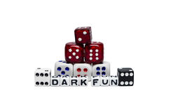 Dark Fun. Conceptual image of dark fun stock image