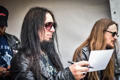 Dark Funeral Hellfest 2016 signing session with fans Royalty Free Stock Photos