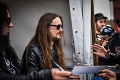 Dark Funeral Hellfest 2016 signing session with fans Stock Image