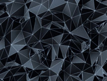 Dark and futuristic low poly texture Stock Image