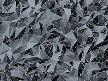 Dark and futuristic low poly texture Royalty Free Stock Photos