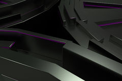Dark futuristic technological background with glowing lines royalty free illustration