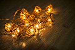 Dark garland christmas light background Royalty Free Stock Photography