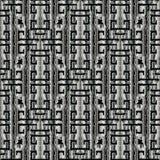 Dark geometric abstract greek vector seamless pattern. Textured Royalty Free Stock Photo