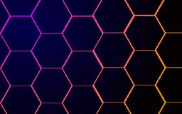 Dark geometric background hexagons light royalty free illustration