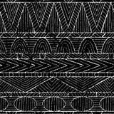Dark geometric seamless print. Grunge texture. Ethnic and tribal Royalty Free Stock Image