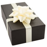 Dark gift box Stock Images