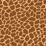 Dark giraffe animal print vector pattern stock illustration