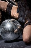 Dark glitterball dance Royalty Free Stock Image