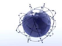 Dark globe. In white background Stock Photography