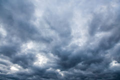 Dark gloomy sky Stock Images