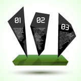 Dark glossy trendy infographic design with platform. Eco theme. Vector Royalty Free Stock Photo