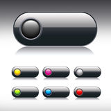 Dark glossy vector button Stock Photo