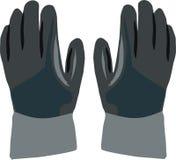 Dark gloves work Stock Photo
