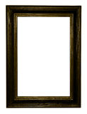 Dark gold antique frame Stock Images