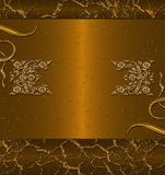 Dark gold banner Stock Images