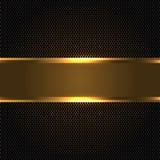 Dark gold banner on dark circle mesh design luxury modern vector stock illustration