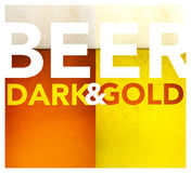Dark and gold beer texture Stock Photography