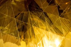 Dark Gold geometric shapes glass abstract texture and background Royalty Free Stock Photography