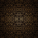 Dark gold pattern Stock Images