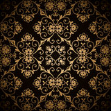 Dark gold pattern Royalty Free Stock Photos