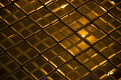 Dark Gold Reflective glass rhombus diamond abstract texture and background Royalty Free Stock Photography
