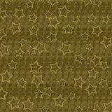 Dark Gold Textured Background With Gold Stars Stock Photography