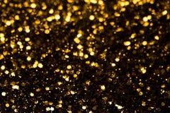 Dark golden  glitter abstract background Stock Photography