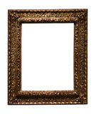 Dark golden picture frame Stock Photos