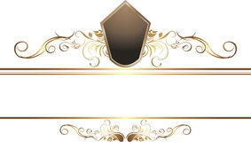 Dark golden vintage element for border Royalty Free Stock Image