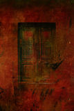 Dark gothic doors. With grungy textures Royalty Free Stock Image