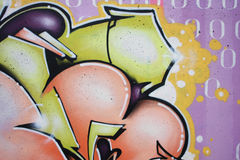 Dark grafitti. On wall, perfect for designs or backgrounds Stock Photography