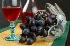 Grape and wine Stock Photo