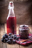 Dark grape jam Stock Image